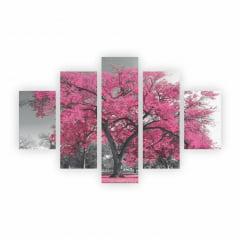 Quadro Árvores Coloridas Decorativo em tela Canvas  - Escolha seu Modelo
